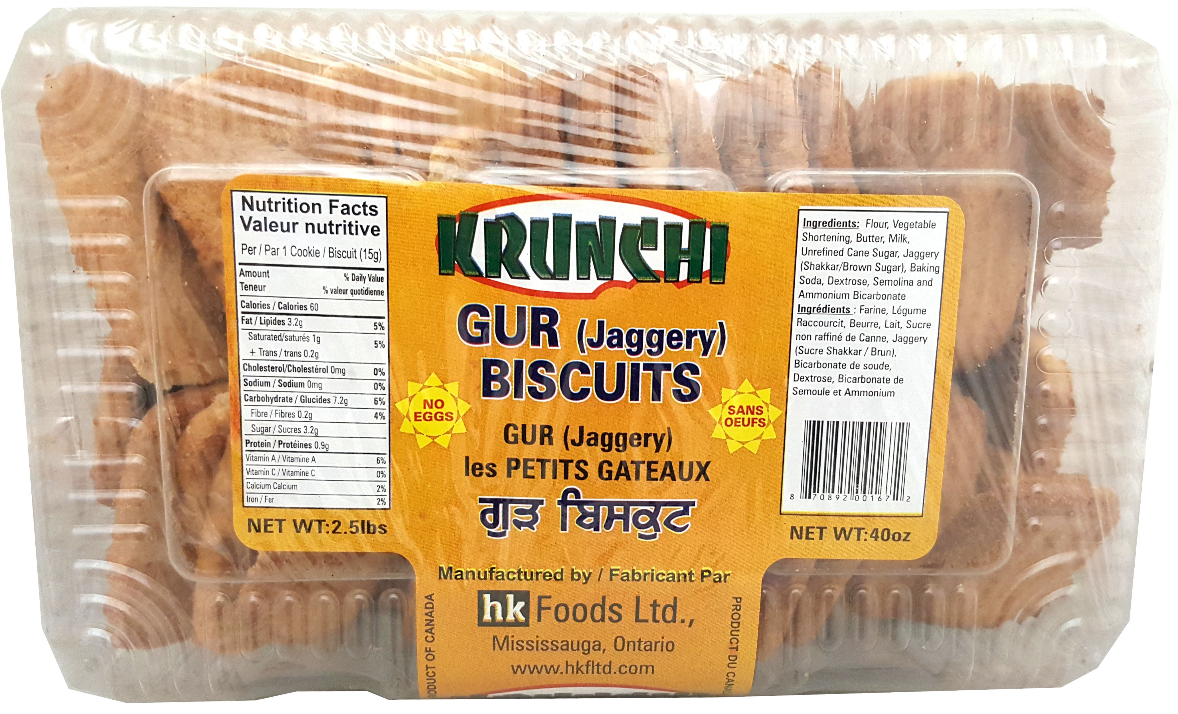 Gur (Jaggery) Biscuits 40oz