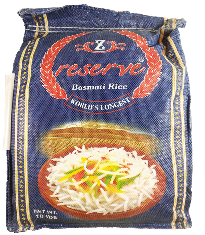 Zafarani Reserve Basmati Rice 10 LBS - Click Image to Close